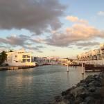 Solnedgång över Boquerons marina.