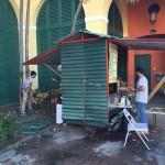 Ekomarknad i San Juan, sockerrörsjuice är poppis